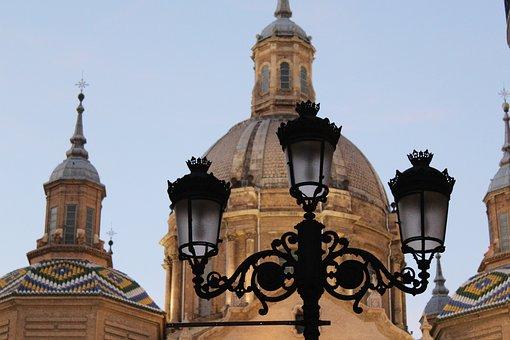 Zaragoza, Spain, Lantern, Architecture, Mosaic, Europe