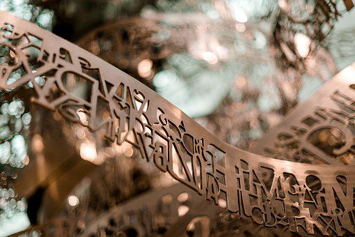 Words, Art, Metal, Letters, Europe, Text, Language