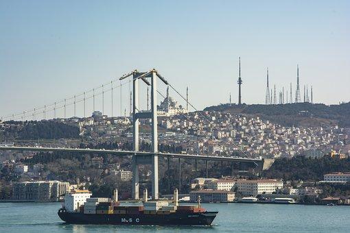 Istanbul, Marine, Throat, Sky, Turkey, Blue, Landscape