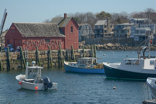 Rockport, Ma, Motif, Mass, New England, Boats