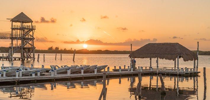 Sunset, Boats, Sea, Caribbean, Nature, Calm, Evening