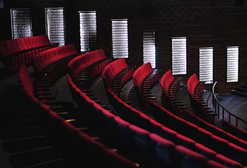 Arm Rest, Auditorium, Background, Chairs, Cinema