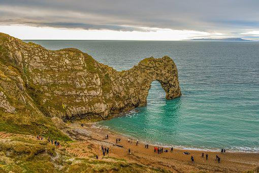 Durdle Door, Beach, Dorset, Ocean, Coast, Landscape
