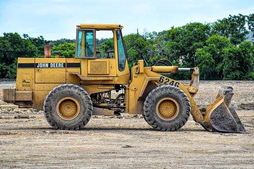 Loader, Heavy Equipment, Construction, Bulldozer