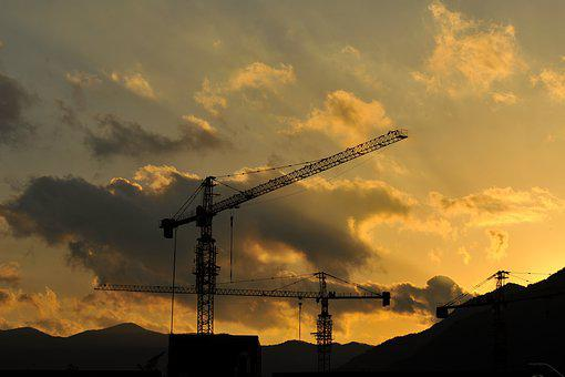 Glow, In The Evening, Corporation, Heavy Equipment