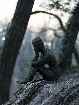 Miniature, Human, Impressive, Sculpture, Dark