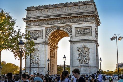 Paris, Arc, France, Architecture, Monument, Landmark