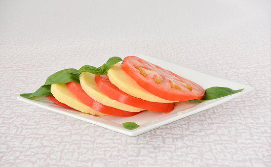 Tomato, Cheese, Basil, Salad, Healthy, Food
