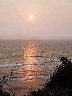 Sunset, Ocean, Landscape, Sea, Beach, Sky, Water