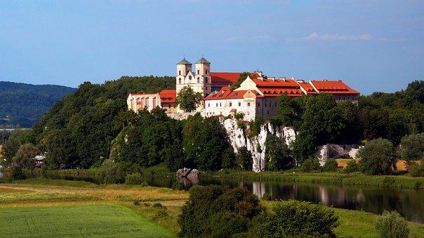 Tyniec, Monastery, Landscape, Summer, Meadow, Kraków