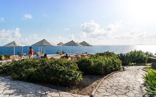 Caribbean, Mexico, Ocean View, Dining, Sea, Cancun