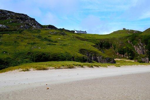 Scotland, North Of Scotland, Sand Beach, Coast, Sand