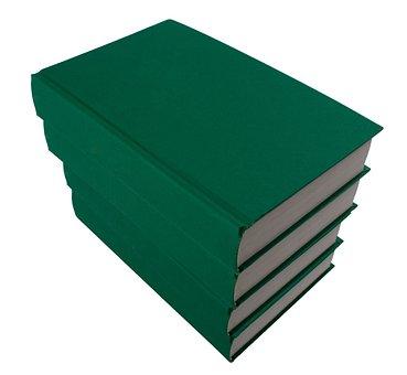 Book, Books, Pile, Tom, Green, On White, Training