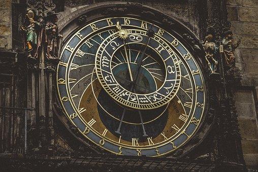 Prague, Clock, Architecture, Time, City, Zodiac