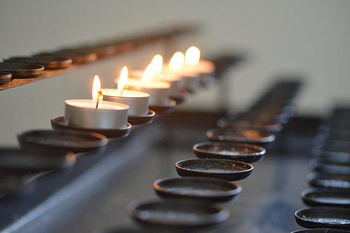 Church, Candles, Light, Religion, Heat, Candle