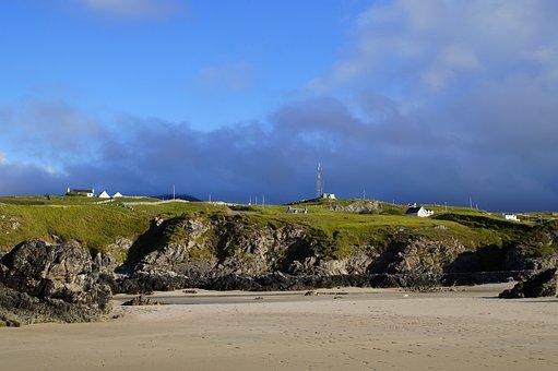 Scotland, Coast, North Of Scotland, Sand Beach, Sand