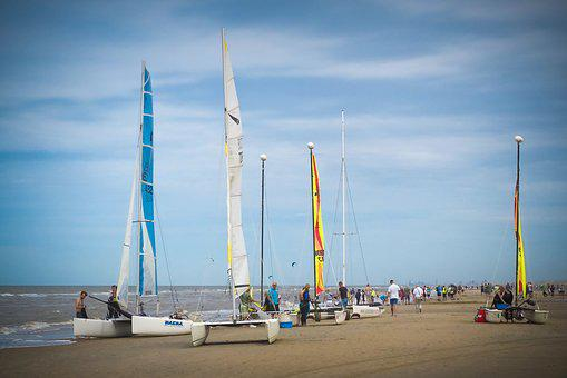 Beach, Catamaran, Nature, Sky, Landscape, Sea, Water
