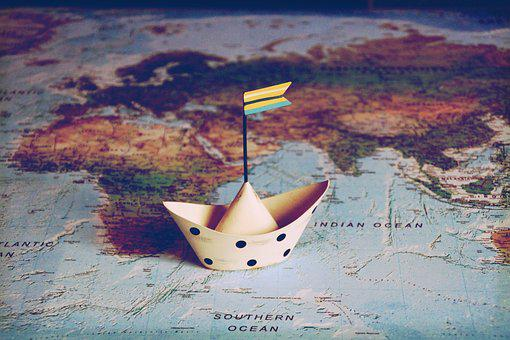 Travel, Have A Good Trip, Ship, World, Map Of The World