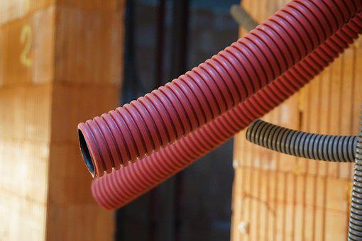 Hoses, Site, Lines, Construction Work, Industry