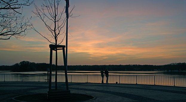 Twilight, Sunset, Landscape, Sun, Sky, Joy, Clouds