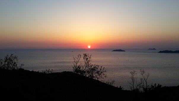 Solar, Sky, Glow, Island, Nature, Twilight, Light