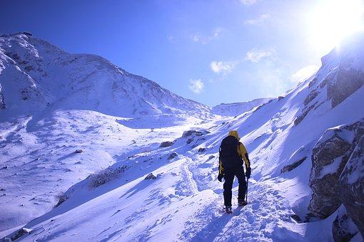 Winter, Seasonal, Snow Mountain, Mountain Climbing