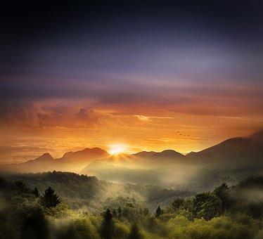 Landscape, Sunset, Sunrise, Beautiful, Nature, Sky