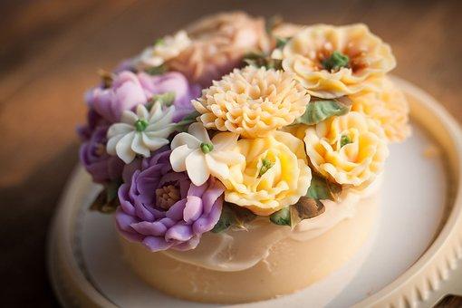 Sweets, Flower Cake, Cake