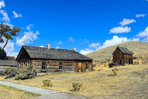 Bannack House And Shed, Montana, Usa, Bannack