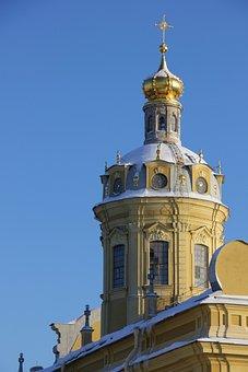 Church, Sky, Winter, St Petersburg Russia, History