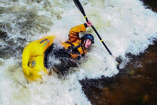 Kayak, White Water, Bear River, Wyoming, Paddle, Water