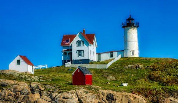 Cape Neddick, Maine, America, New England, Seashore