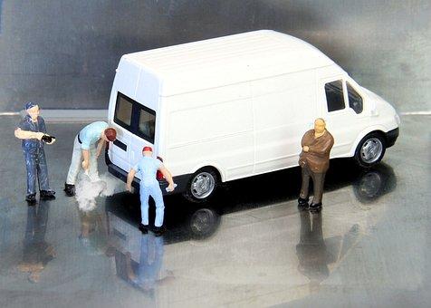Auto, Tüv, Miniature Figures, Asu, Investigation
