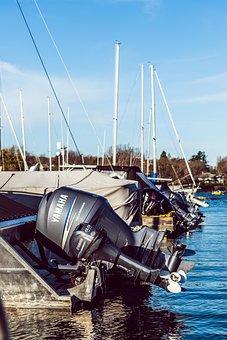 Marina, Boats, Back, Motors, Ocean, Sailing Vessel