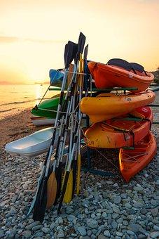 Kayak, Water Sports, Sea, Beach, Vacations, Paddle
