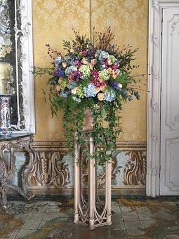 Vase, Bouquet, Composition, Romantic, Wedding