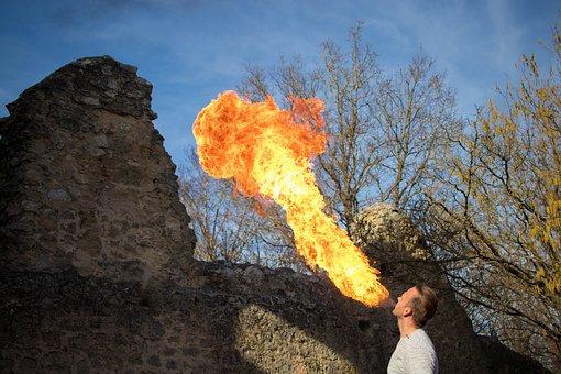 Fire Haunt, Fire, Flamen, Burn, Heat, Background, Hot