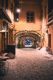 Brasov, Night, Winter, Culture, Romania, Bohemian, City