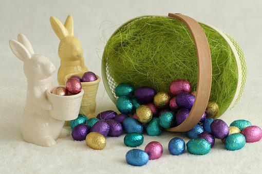 Easter, Easter Decoration, Eggs, Chocolate, Haas