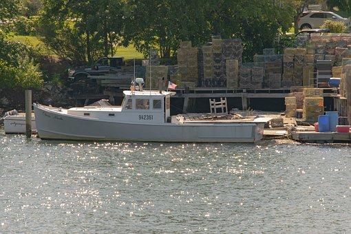 Lobster Boat, Boat, Docked, Fishing, Portsmouth, Nh