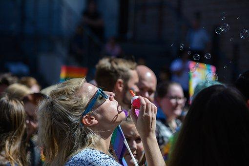 Bubbles, Happy, Fun, Woman, Party, Celebration, Festive