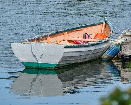 Portsmouth, Nh, Boat, Row Boat, New England, Harbor