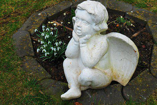Angel, Mourning, Wing, Figure, Angel Figure, Heavenly