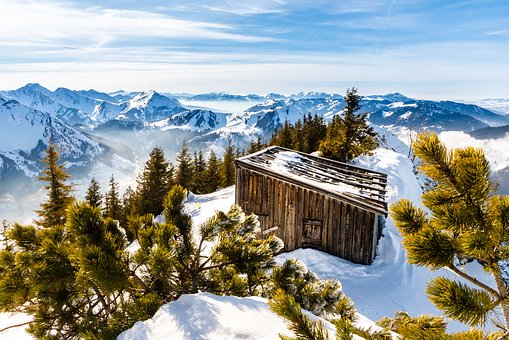 Hut, Snow, Mountains, Winter, Lonely, Wintry, Alpine