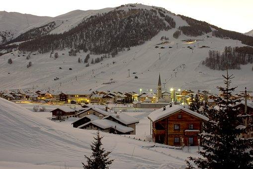 Snow, Mountain, Livigno, Sci, Cold, Italy, Mountains