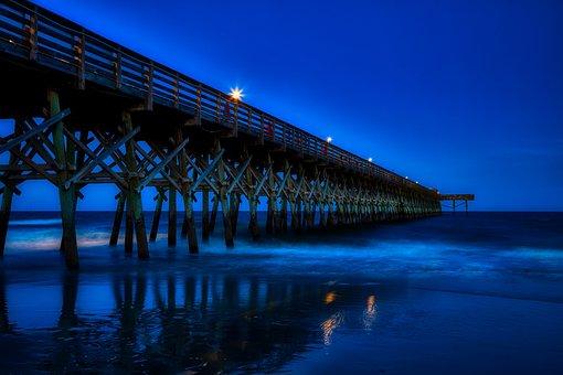 Myrtle Beach, South Carolina, America, Pier, Sunset