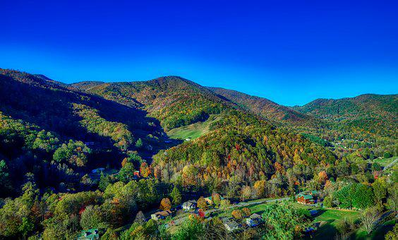 North Carolina, America, Mountains, Fall, Autumn, Hdr