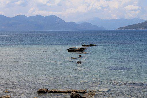 Sea, Pierce, Marina, Old, Destroyed, Antique, Horizon