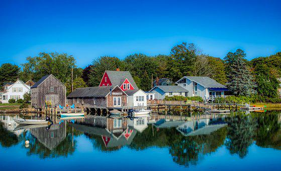 Kennebunkport, Maine, New England, Pier, Dock, Boats