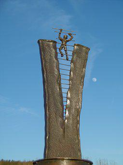 Heaven Help Us, Optimist, Sculpture, Metal Art, Artwork